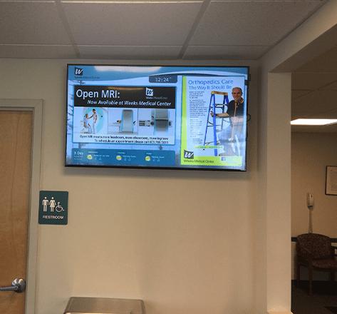Open MRI information on a digital signage TV