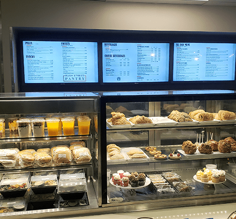 Image display Menu Board and Food products