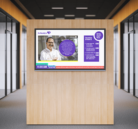 Image display Dr. Reddy's video screen attach