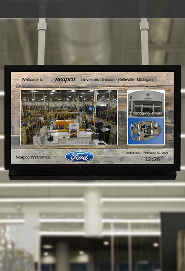 Image display Manufacturing Applications screen