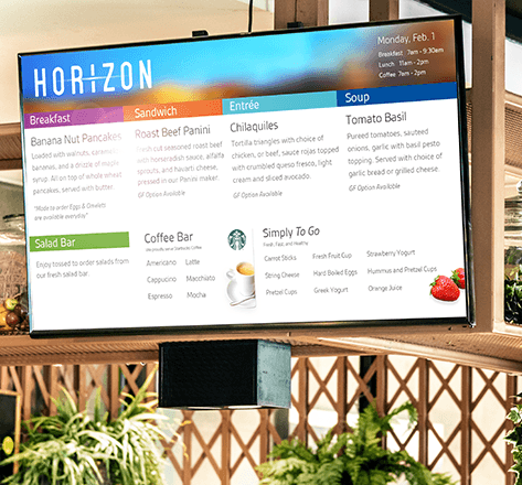 Image displaying Menu Board for advertising